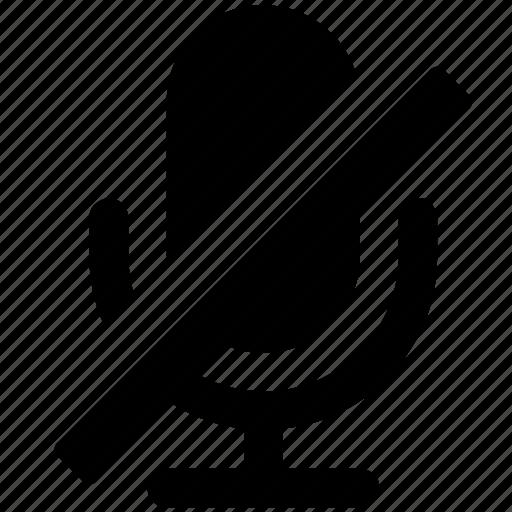 mic, off, sound icon