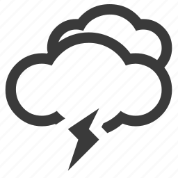 cloud, flash icon