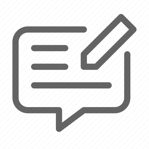 comment, feedback, review, survey icon
