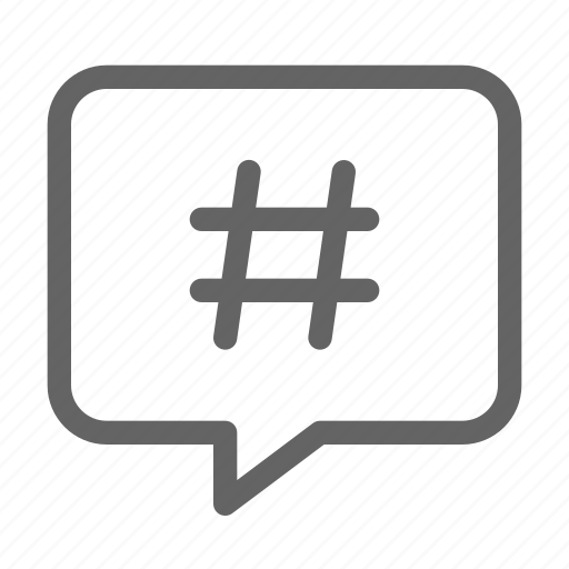 chat, hashtag, trend, viral icon