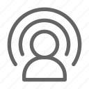 blogger, influencer, podcast, youtuber icon