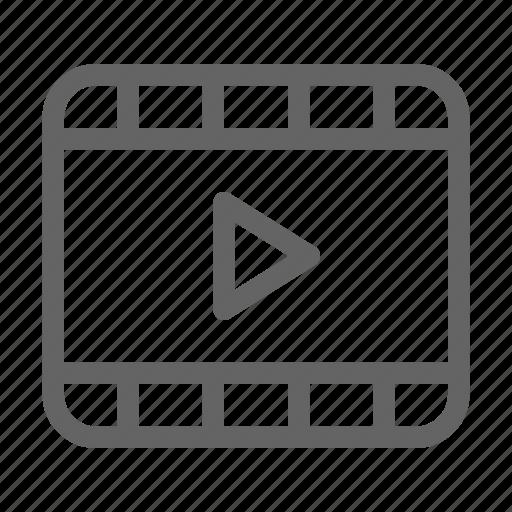 clip, film, movie, video icon