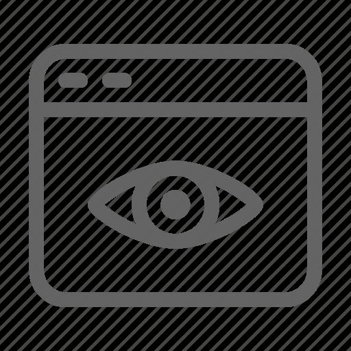 blog, influencer, viewer, views icon