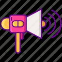 amplify, announcement, communication, loud, loudspeaker, megaphone icon