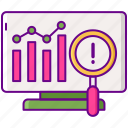 analytics, chart, report, search, seo icon