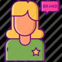 advertisement, brand, mentions, sponsored, woman