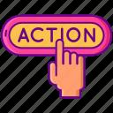 action, call, call to action, click, cta, cta button icon