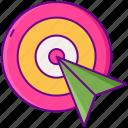 arrow, clicks, cursor, target, web