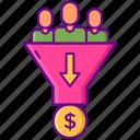 conversion, customer, dollar, income, money