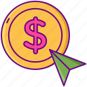 click, cost, cpc, mouse, per icon