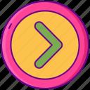 arrow, disclosure, forward, left