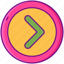 arrow, disclosure, forward, left icon