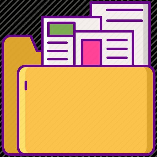 folder, kit, media, press icon