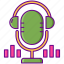 broadcast, mic, podcast, radio, sound icon