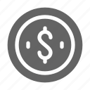 cent, monetization, penny, sponsor icon