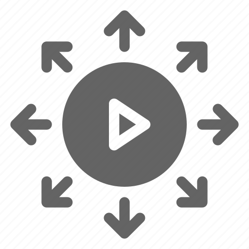 ad, advertising, video, viral icon