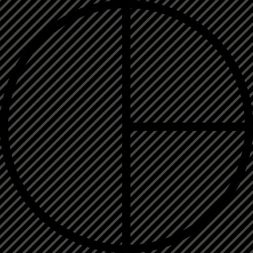 analytics, data, graphics, info, pie icon