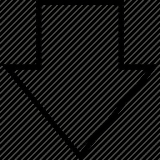 arrow, bars, data, down, graphics, info icon