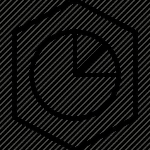 analyze, chart, graphics, info, pie icon