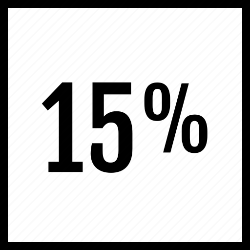 data, fifteen, graphics, info, percent icon