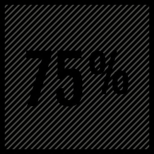 data, five, graphics, info, percent, seventy icon