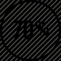 data, graphics, info, off, percent, seventy icon