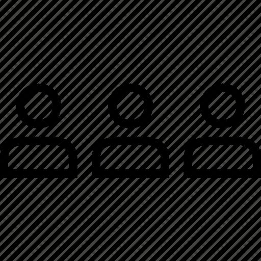 data, graphics, info, person, three, users icon