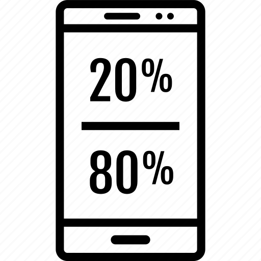 cell, data, eighty, graphics, info, phone, twenty icon