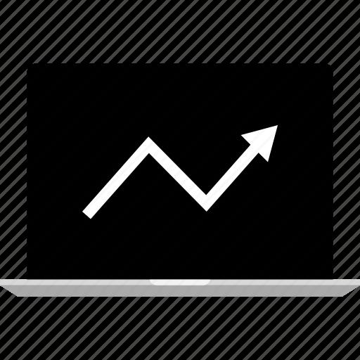analytics, arrow, graphic, up icon
