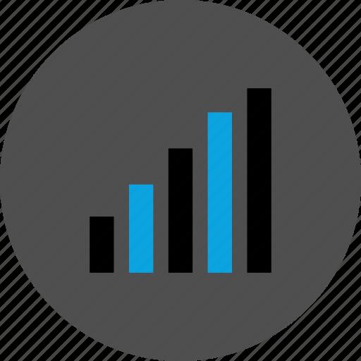 analytics, bars, graphic, up icon