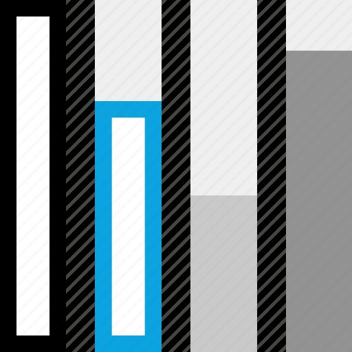 analytics, bars, information, up icon