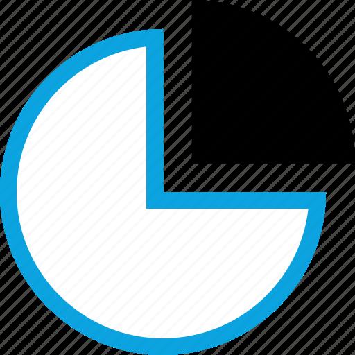 analytics, chart, graphic, pie icon
