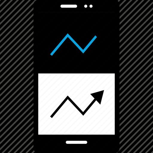 analytics, double, information icon