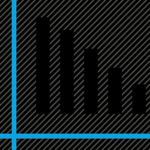 Analytics, down, information icon - Download on Iconfinder