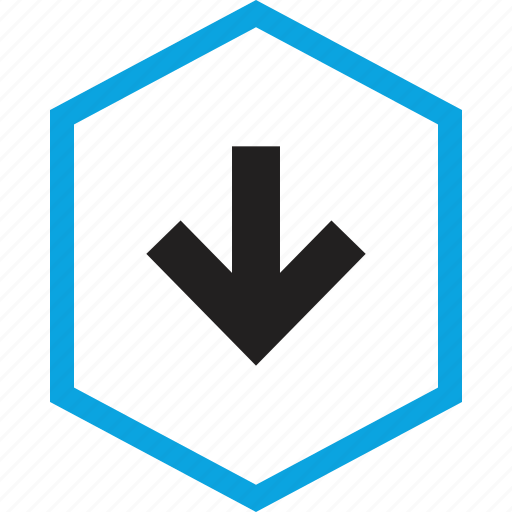 analytics, down, information icon