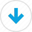 analytics, arrow, downs, information icon