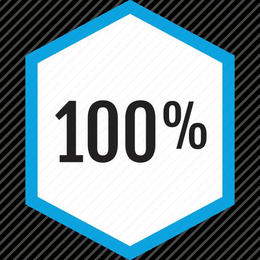 analytics, graphic, hundred, one icon