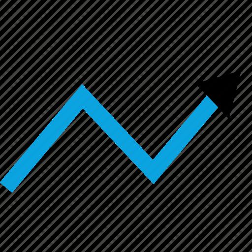 arrow, chart, graphic icon