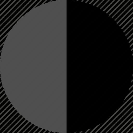 analytics, half, pie icon