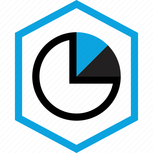 data, graphic, hexagon icon