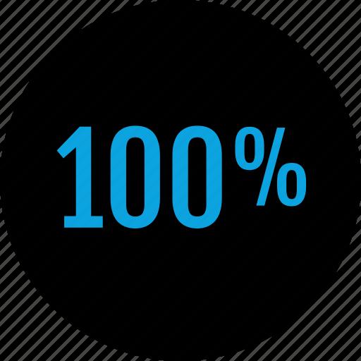 analytics, hundred, information icon