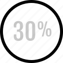 analytics, information, percent icon