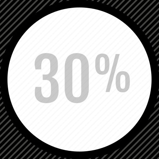 analytics, information, percent icon