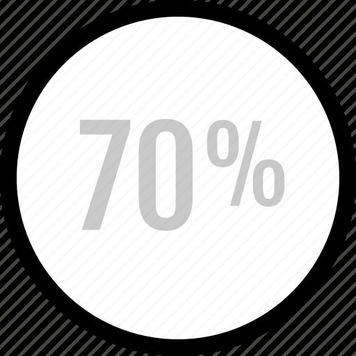 analytics, information, seventy icon