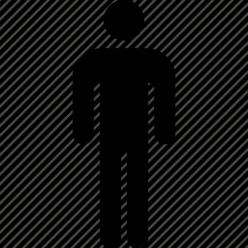 analytics, information, person, single icon