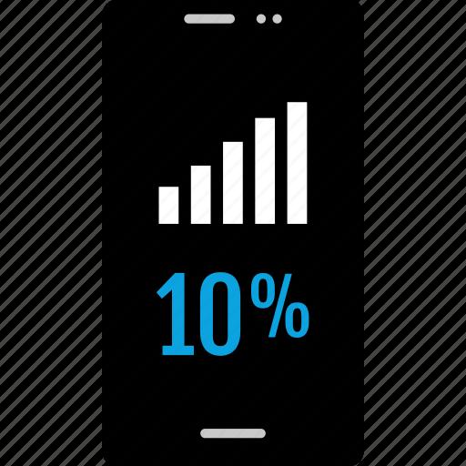 analytics, information, ten, up icon