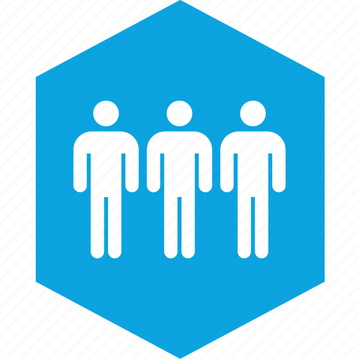 analytics, hex, information, three icon