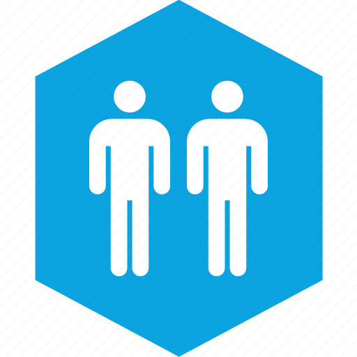 analytics, hex, information, two icon