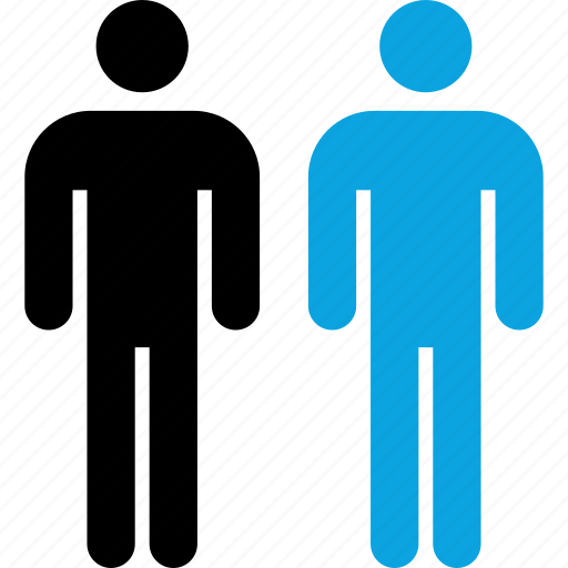 analytics, information, two icon
