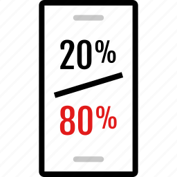 cell, data, infographic, information, percent, phone icon
